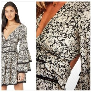 Free People Open Back Floral Kristall Dress